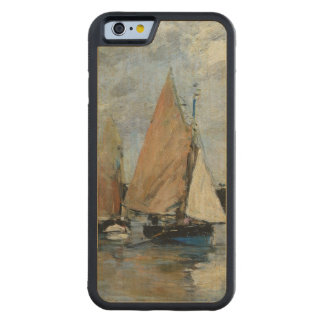 El embarcadero en la alta marea, Trouville Funda De iPhone 6 Bumper Arce