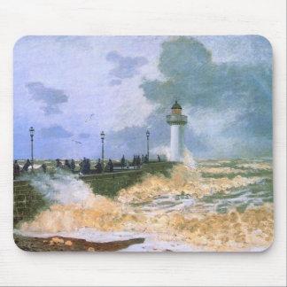 El embarcadero en Le Havre - Claude Monet Tapetes De Ratón