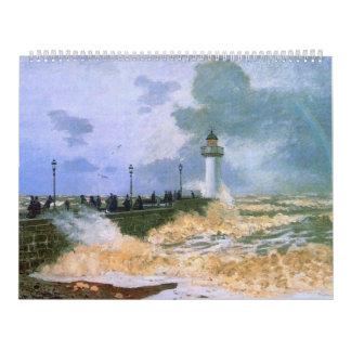 El embarcadero en Le Havre - Claude Monet Calendarios