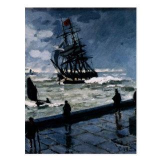 El embarcadero en Le Havre, mún tiempo de Claude Postal