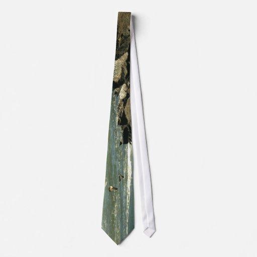 El embarcadero oscila el cielo pie Pierce la Flori Corbata Personalizada