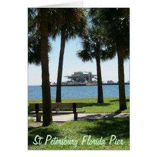 El embarcadero St Petersburg la Florida Tarjeta De Felicitación