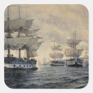 El embarque de la expedición de liberación del PE Pegatina Cuadrada
