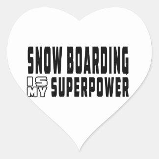 El embarque de la nieve es mi superpotencia colcomanias de corazon