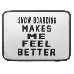 El embarque de la nieve hace que siente mejor fundas para macbooks