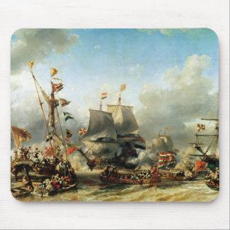 El embarque de Ruyter y de Guillermo de Witt Tapete De Ratón