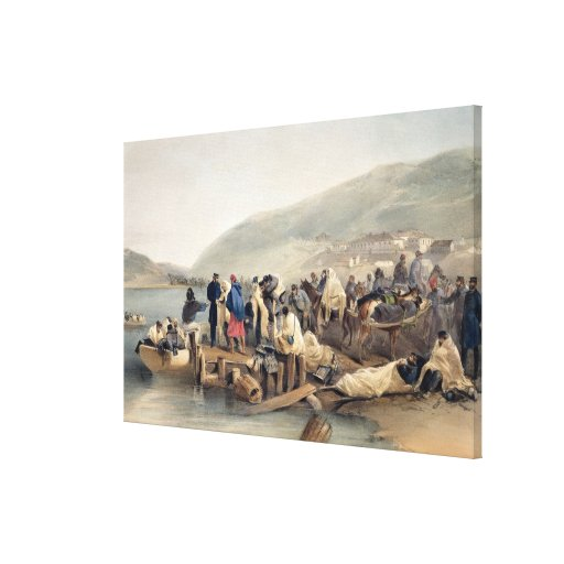 El embarque del enfermo en Balaklava Impresiones En Lienzo Estiradas