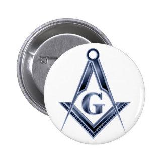 El emblema azul de la casa de campo pin redondo de 2 pulgadas
