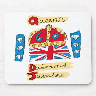 El emblema del jubileo del diamante de la reina alfombrilla de raton