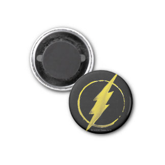 El emblema el | amarillo de destello del pecho imán redondo 3 cm