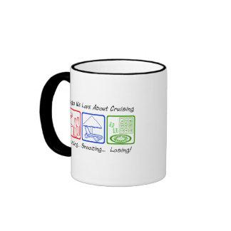 El emborrachar, dormitando… taza de dos colores
