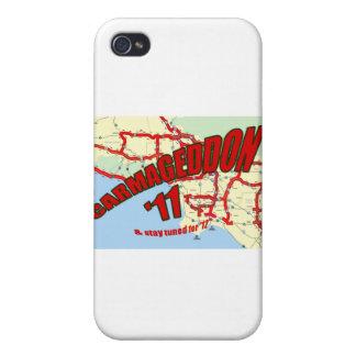 El embotellamiento de CARMAGEDDON 405 en Los Ángel iPhone 4 Carcasa