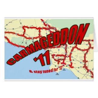 El embotellamiento de CARMAGEDDON 405 en Los Ángel Felicitación