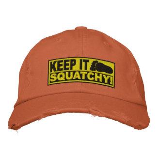 ¡El *EMBROIDERED* amarillo lo guarda Squatchy! - B Gorra De Béisbol