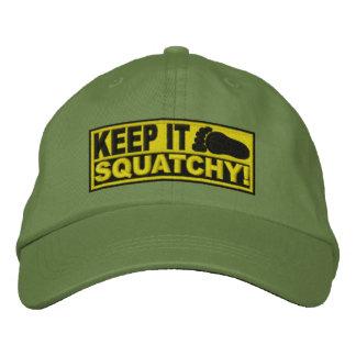 ¡El *EMBROIDERED* amarillo lo guarda Squatchy! - B Gorras De Beisbol Bordadas