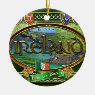 El Emerald Isle Adorno Navideño Redondo De Cerámica