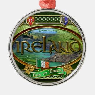 El Emerald Isle Adorno Navideño Redondo De Metal