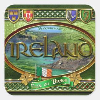 El Emerald Isle Pegatina Cuadrada