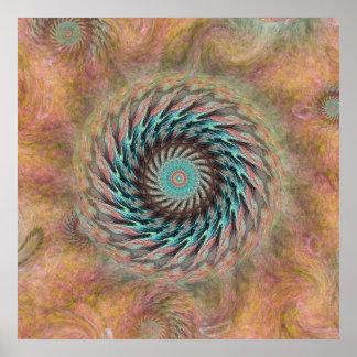 El emerger rueda adentro el melocotón y la impresiones