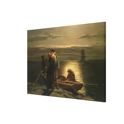 El emigrante, 1858 impresión en lienzo