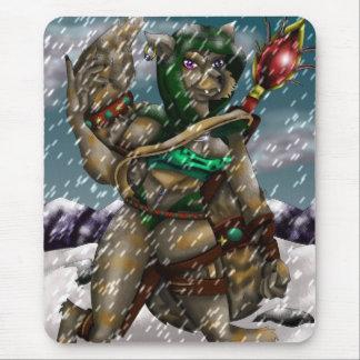 El emigrar a través de la nieve tapete de raton