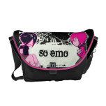 el emo embroma pensamientos del emo bolsas de mensajeria
