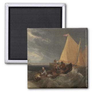 El empalme del Thames y del Medway, 1807 Imán Cuadrado