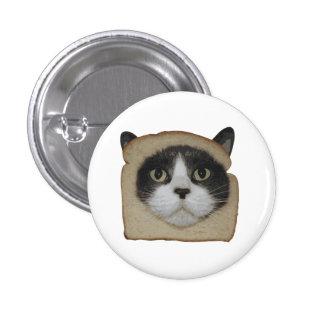El empanar empanado del gato de Inbread Pin Redondo De 1 Pulgada