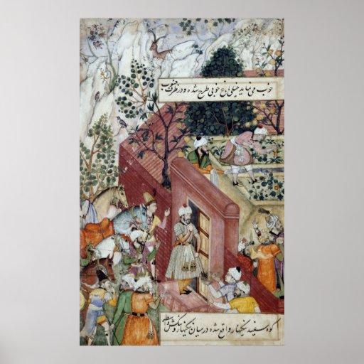 El emperador Babur de Mughal Póster