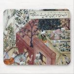 El emperador Babur de Mughal Tapete De Raton