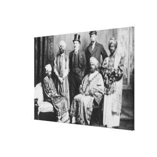 El emperador de Abyssinia y de su Court Lienzo Envuelto Para Galerías