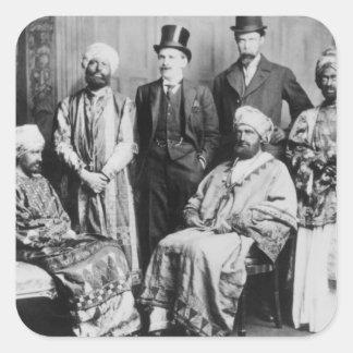 El emperador de Abyssinia y de su Court Calcomanía Cuadradas Personalizadas