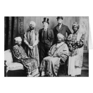 El emperador de Abyssinia y de su Court Felicitacion
