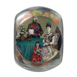 El emperador de Meiji de Japón y de la familia Frascos De Cristal Jelly Belly