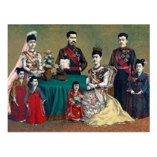 El emperador de Meiji de Japón y de la familia Postales