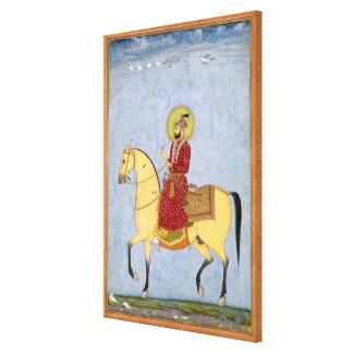 El emperador Farrukhsiyar (1683-1719) de Mughal (r Impresión En Lona Estirada
