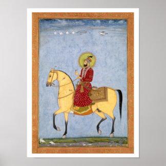El emperador Farrukhsiyar (1683-1719) de Mughal (r Póster