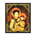 El emperador - madre y niño lona envuelta para galerias