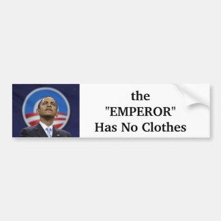 el EMPERADOR no tiene ninguna ropa Etiqueta De Parachoque