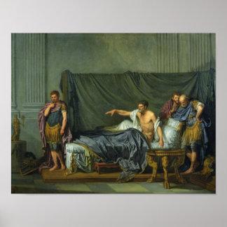 El emperador Severus que reprende a su hijo Poster