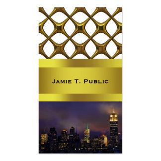 El Empire State Building brilla intensamente en nu Plantilla De Tarjeta De Negocio