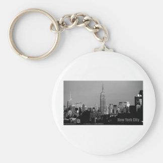 El Empire State Building Llavero Redondo Tipo Pin