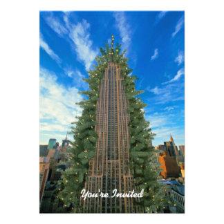 El Empire State Building Morphed en el árbol de na Comunicado