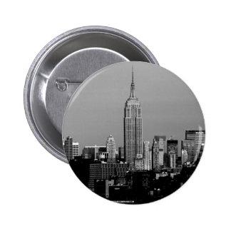 El Empire State Building Pin Redondo De 2 Pulgadas
