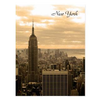 El Empire State Building (sepia) Tarjetas Postales