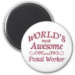 El empleado de correos más impresionante del mundo imán redondo 5 cm