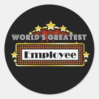 El empleado más grande del mundo pegatina redonda
