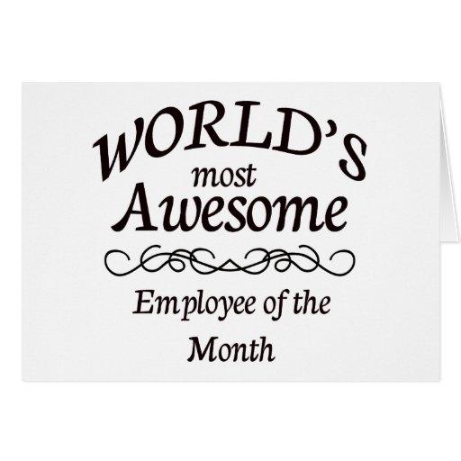 El empleado más impresionante del mundo del mes tarjeta de felicitación
