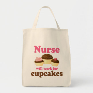 El empleo trabajará para la enfermera de las magda bolsa tela para la compra