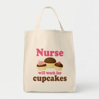 El empleo trabajará para la enfermera de las magda bolsas lienzo